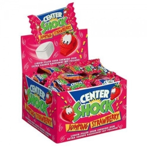Gumy Chupa Chups Center Shock Strawberry! 10 szt.